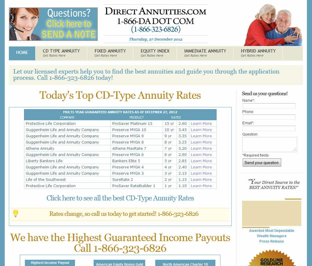 Direct Annuities