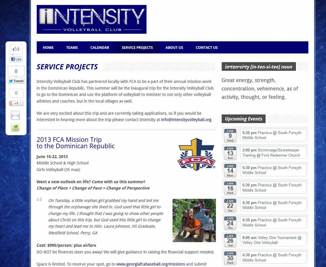 Intensity Volleyball Club