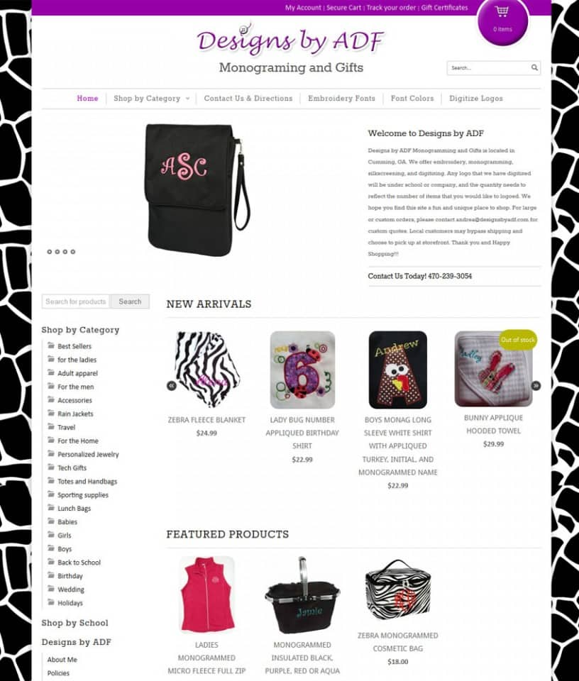 Designs by ADF Monograming and Gifts