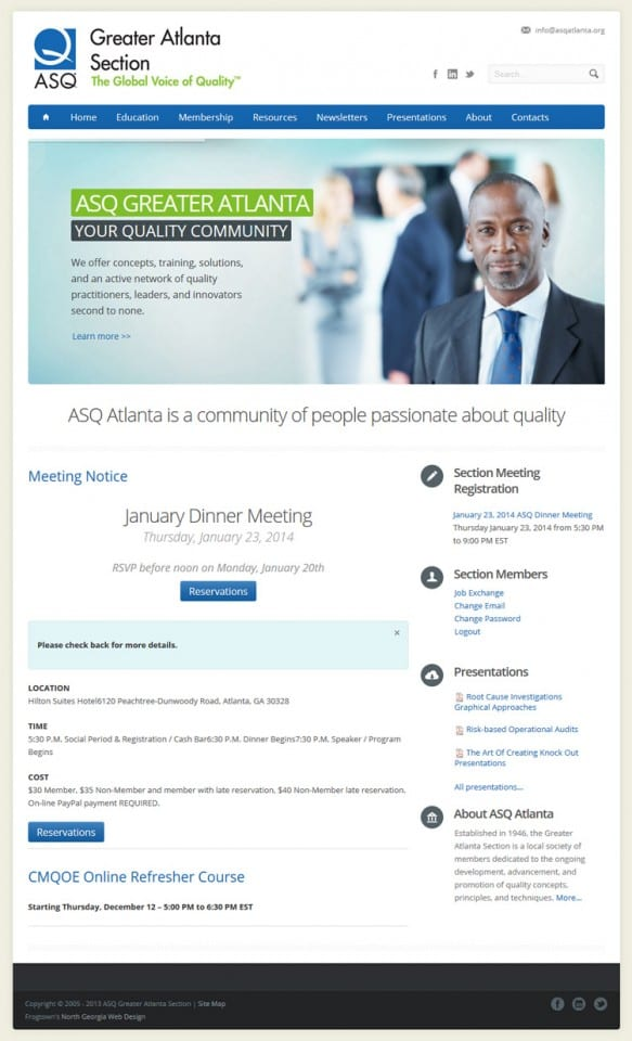 ASQ Atlanta Section Website
