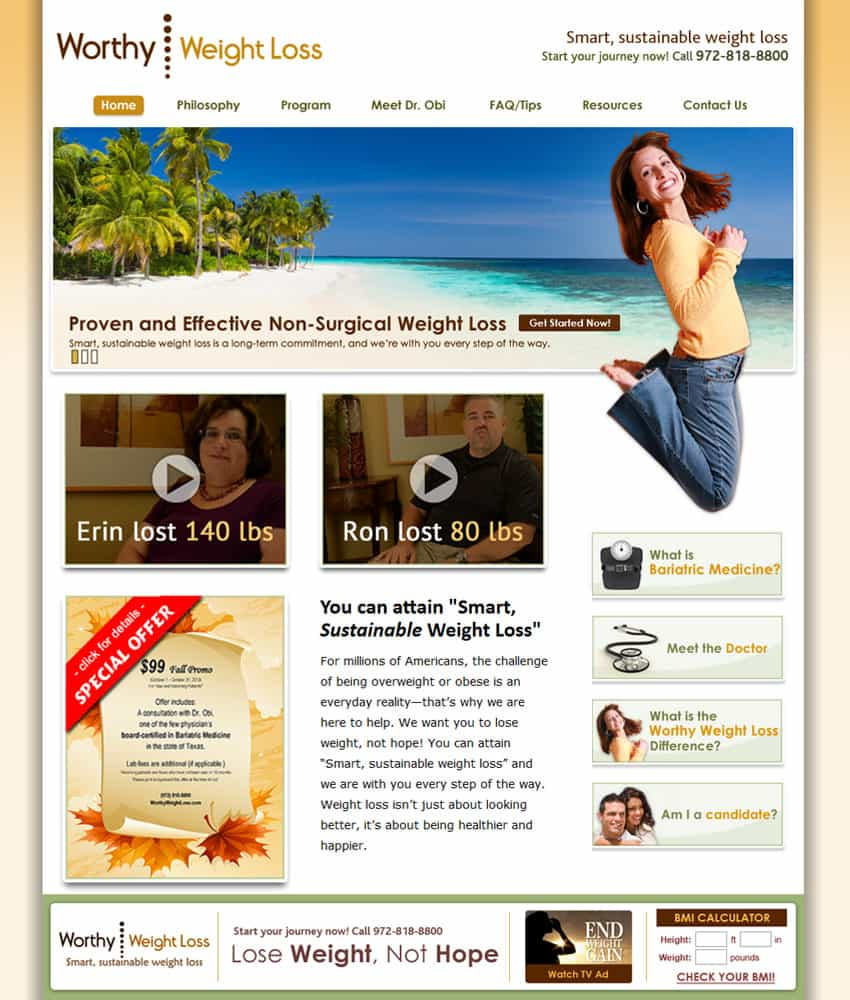 Worthy Weight Loss Chooses Frogtown For Website Maintenance