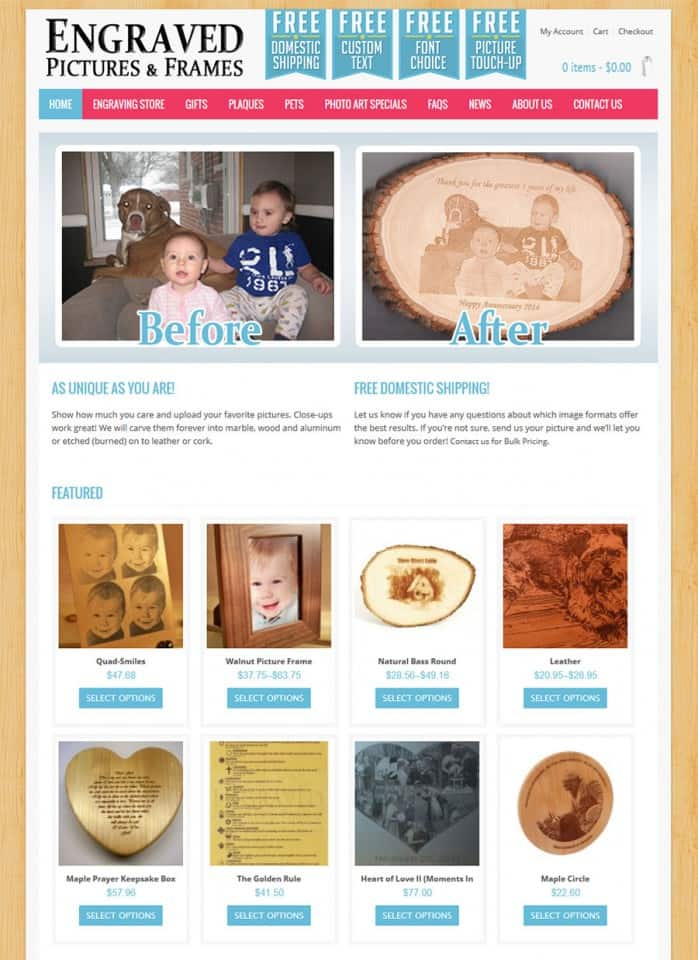 Engraved Pictures and Frames