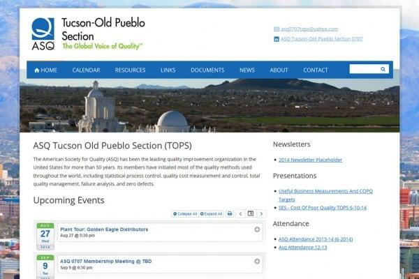 ASQ Tucson Old Pueblo Section Website