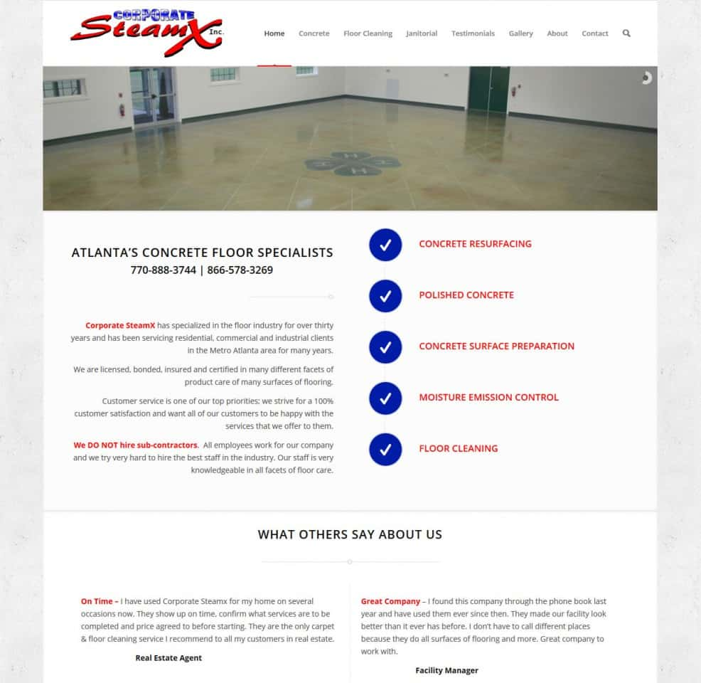 Corporate SteamX – Concrete Specialists