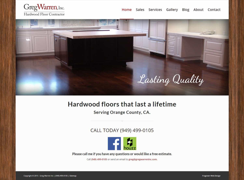 New WordPress Website For Orange County Hardwood Installer