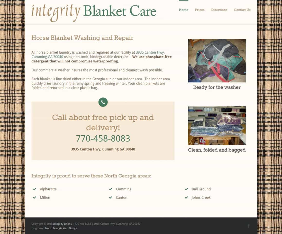 Integrity Horse Blanket Care