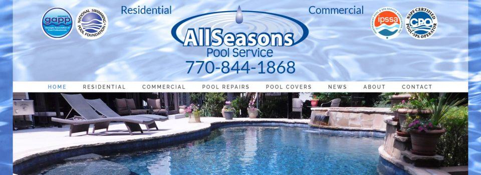 Customized WordPress design for All Seasons Pool Service
