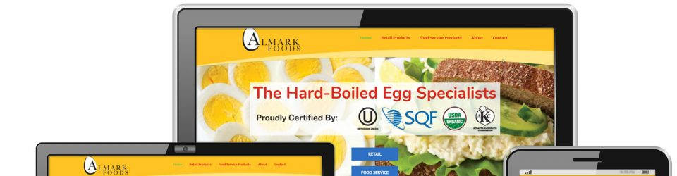WordPress Website Designed for AlmarkEggs com